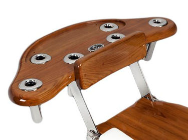 Picture of Pompanette INT6913 Teak Reverse Rocket Launcher, Tray & Draw - Chair mount