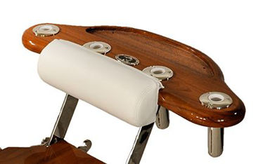 Picture of Pompanette INT6953A Teak Reverse Rocket Launcher, Tray & Draw - Chair mount