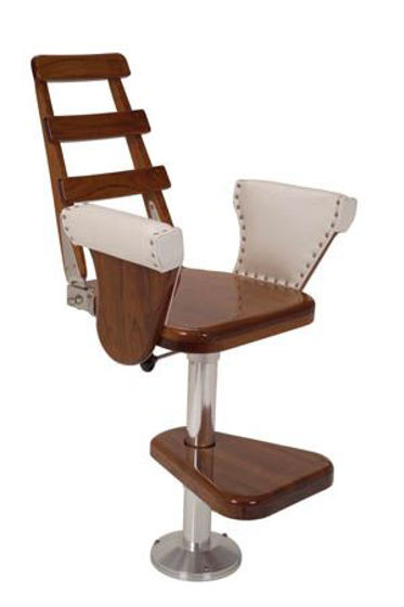 Picture of Pompanette INT 3510 International Helmseat Teak Seatboard