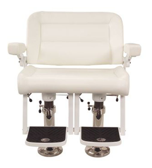 Picture of Pompanette T9023WPW-N Platinum Bench, White Vinyl w/white powdercoat hardware