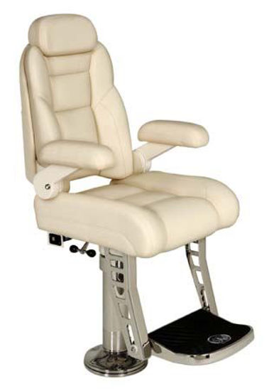 Picture of Pompanette T7023LUXSS Platinum Helmseat, Signature Series-, Stainless Steel Hardware