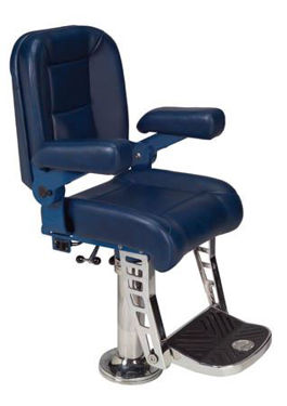 Picture of Pompanette T9026ULTSS Platinum Helmseat, Ultra Leather w/Stainless footrest and pedestal