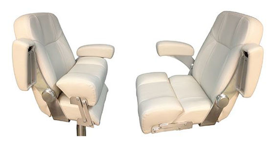 Picture of Pompanette TSS9270 Deluxe Captains Chair-White