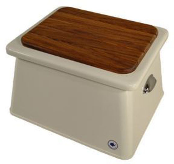 Picture of Pompanette BB1306 Step Box Teak Lid, - Large