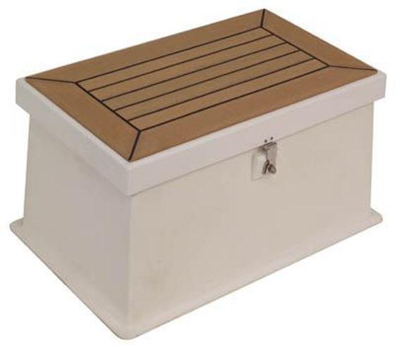 "Picture of Pompanette BB1304NSB Step Box - Black non-skid 21"""