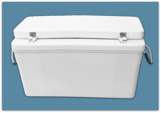 Picture of 6″ Set Back Ice Chest 150 qt - 18x21x43″ w/ Bevel 39″