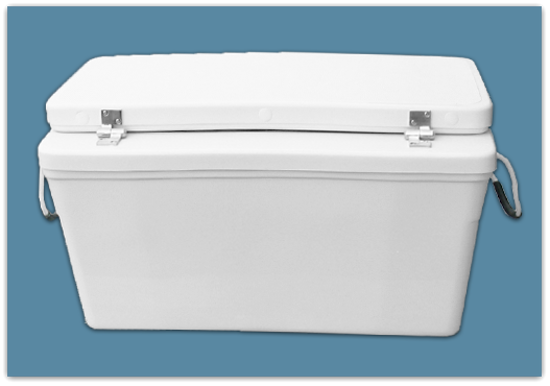 Picture of 3″ Set Back Ice Chest 65 qt - 18″*x17x23″ – 27″ Taper