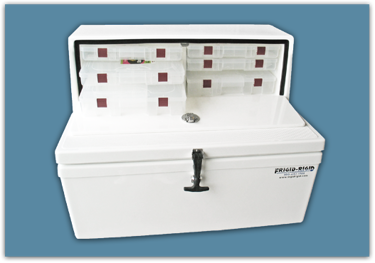 Picture of Tackle Center / Cooler 74 lbs 110 qt - 25.5x24x33